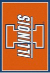 Milliken College Team Spirit (NCAA) Illinois 74233 Spirit Rectangle (4000019448) 2'8