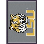 "Milliken College Team Spirit (NCAA) LSU 45280 Spirit Rectangle (4000019050) 3'10"" x 5'4"" Area Rug"