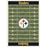 "Milliken NFL Team Home Field (NFL-F) Pittsburgh Steelers 01075 Home Field Rectangle (4000019809) 3'10"" x 5'4"" Area Rug"