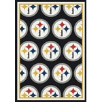 "Milliken NFL Team Repeat (NFL-R) Pittsburgh Steelers 01074 Repeat Rectangle (4000020001) 3'10"" x 5'4"" Area Rug"