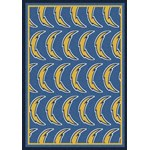 "Milliken NFL Team Repeat (NFL-R) San Diego Chargers 09077 Repeat Rectangle (4000096047) 3'10"" x 5'4"" Area Rug"