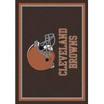 "Milliken NFL Team Spirit (NFL-S) Cleveland Browns 00923 Spirit Rectangle (4000095902) 3'10"" x 5'4"" Area Rug"