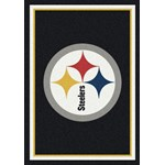 "Milliken NFL Team Spirit (NFL-S) Pittsburgh Steelers 00974 Spirit Rectangle (4000095934) 5'4"" x 7'8"" Area Rug"