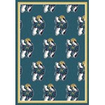 "Milliken NBA Team Repeat (NBA-R) New Orleans Hornets 01119 Repeat Rectangle (4000053050) 10'9"" x 13'2"" Area Rug"