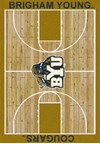 Milliken College Home Court (NCAA) Brigham Young 01048 Court Rectangle (4000018369) 5'4