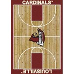 "Milliken College Home Court (NCAA) Louisville 01150 Court Rectangle (4000018387) 5'4"" x 7'8"" Area Rug"