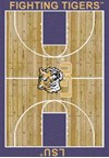 Milliken College Home Court (NCAA) LSU 01152 Court Rectangle (4000018473) 7'8