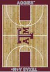 Milliken College Home Court (NCAA) Texas A&M 01420 Court Rectangle (4000018511) 7'8
