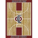 "Milliken College Home Court (NCAA-CRT) Ohio State 01000 Court Rectangle (4000096105) 10'9"" x 13'2"" Area Rug"