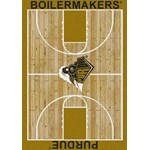"Milliken College Home Court (NCAA-CRT) Purdue 01345 Court Rectangle (4000096111) 10'9"" x 13'2"" Area Rug"