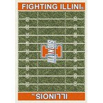 "Milliken College Home Field (NCAA) Illinois 01113 Home Field Rectangle (4000018553) 5'4"" x 7'8"" Area Rug"