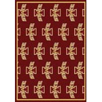 "Milliken College Repeating (NCAA) Iowa State 01111 Repeat Rectangle (4000018768) 3'10"" x 5'4"" Area Rug"