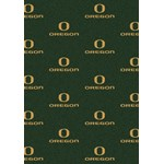 "Milliken College Repeating (NCAA) Oregon 01292 Repeat Rectangle (4000019007) 10'9"" x 13'2"" Area Rug"