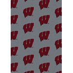 "Milliken College Repeating (NCAA) Wisconsin 01490 Repeat Rectangle (4000018958) 7'8"" x 10'9"" Area Rug"