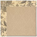 Capel Rugs Creative Concepts Cane Wicker - Cayo Vista Graphic (315) Octagon 4