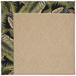 Capel Rugs Creative Concepts Cane Wicker - Bahamian Breeze Coal (325) Octagon 4' x 4' Area Rug