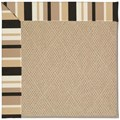Capel Rugs Creative Concepts Cane Wicker - Granite Stripe (335) Octagon 4