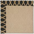 Capel Rugs Creative Concepts Cane Wicker - Bamboo Coal (356) Octagon 4