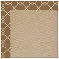 Capel Rugs Creative Concepts Cane Wicker - Arden Chocolate (746) Octagon 4