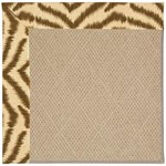 Capel Rugs Creative Concepts Cane Wicker - Couture King Chestnut (756) Octagon 4' x 4' Area Rug