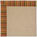 Capel Rugs Creative Concepts Cane Wicker - Tuscan Stripe Adobe (825) Octagon 8