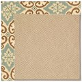 Capel Rugs Creative Concepts Cane Wicker - Shoreham Spray (410) Octagon 10