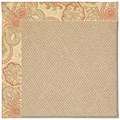 Capel Rugs Creative Concepts Cane Wicker - Paddock Shawl Persimmon (810) Octagon 10