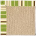 Capel Rugs Creative Concepts Cane Wicker - Tux Stripe Green (214) Octagon 12
