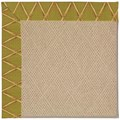 Capel Rugs Creative Concepts Cane Wicker - Bamboo Tea Leaf (236) Octagon 12