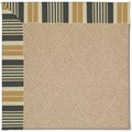 Capel Rugs Creative Concepts Cane Wicker - Long Hill Ebony (340) Octagon 12