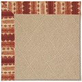 Capel Rugs Creative Concepts Cane Wicker - Java Journey Henna (580) Octagon 12