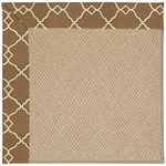 "Capel Rugs Creative Concepts Cane Wicker - Arden Chocolate (746) Runner 2' 6"" x 8' Area Rug"