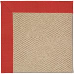 "Capel Rugs Creative Concepts Cane Wicker - Dupione Crimson (575) Runner 2' 6"" x 10' Area Rug"