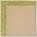 Capel Rugs Creative Concepts Cane Wicker - Coral Cascade Avocado (225) Rectangle 3