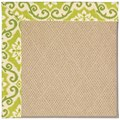 Capel Rugs Creative Concepts Cane Wicker - Shoreham Kiwi (220) Rectangle 9