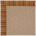 Capel Rugs Creative Concepts Grassy Mountain - Tuscan Stripe Adobe (825) Octagon 8