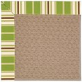 Capel Rugs Creative Concepts Grassy Mountain - Tux Stripe Green (214) Octagon 12