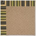 Capel Rugs Creative Concepts Raffia - Vera Cruz Coal (350) Octagon 6