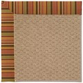 Capel Rugs Creative Concepts Raffia - Tuscan Stripe Adobe (825) Octagon 8