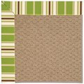 Capel Rugs Creative Concepts Raffia - Tux Stripe Green (214) Octagon 12