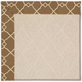 Capel Rugs Creative Concepts White Wicker - Arden Chocolate (746) Octagon 4