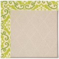 Capel Rugs Creative Concepts White Wicker - Shoreham Kiwi (220) Octagon 6