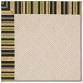 Capel Rugs Creative Concepts White Wicker - Vera Cruz Coal (350) Octagon 6