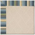 Capel Rugs Creative Concepts White Wicker - Kalani Ocean (417) Octagon 8