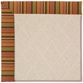 Capel Rugs Creative Concepts White Wicker - Tuscan Stripe Adobe (825) Octagon 8