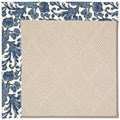 Capel Rugs Creative Concepts White Wicker - Batik Indigo Blue (415) Octagon 10