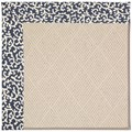 Capel Rugs Creative Concepts White Wicker - Coral Cascade Navy (450) Octagon 10