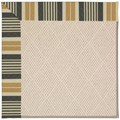 Capel Rugs Creative Concepts White Wicker - Long Hill Ebony (340) Octagon 12