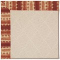 Capel Rugs Creative Concepts White Wicker - Java Journey Henna (580) Octagon 12