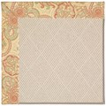 Capel Rugs Creative Concepts White Wicker - Paddock Shawl Persimmon (810) Octagon 12